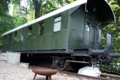 Unser Eisenbahnwagon von außen